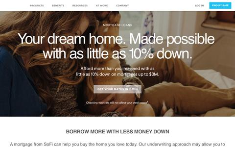 Mortgage Loans from SoFi | 10% Down on Loans up to $3M