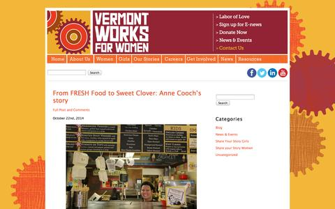 Screenshot of Blog vtworksforwomen.org - Vermont Works for Women - Helping women and girls recognize their potential and explore, pursue and excel in work that leads to economic independence. - captured Oct. 26, 2014