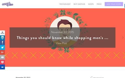 Screenshot of Blog easysize.me - Blog Ń EasySize   We Know Your Size - captured Dec. 1, 2015