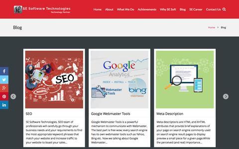 Screenshot of Blog superconeng.com - Articles and News | SE Software Technologies | - captured Jan. 16, 2016