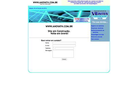 Screenshot of Home Page anovath.com.br - www.anovath.com.br - captured Oct. 4, 2014