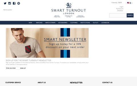 Screenshot of Signup Page smartturnout.com - Smart Turnout Email Newsletter Sign Up - captured Feb. 8, 2016