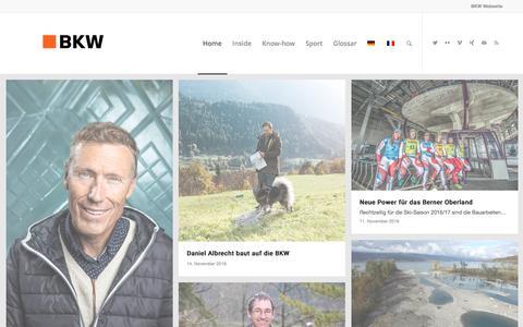Screenshot of Blog bkw.ch - Beiträge - BKW Blog - captured Nov. 21, 2016