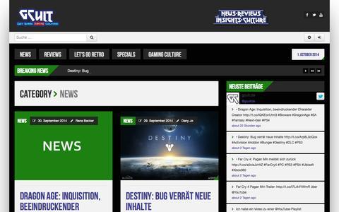 Screenshot of Press Page gcult.de - News | gcult.de - captured Oct. 1, 2014