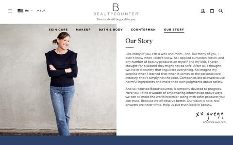 Screenshot of About Page beautycounter.com - Our Story | Beautycounter - captured March 19, 2019
