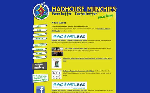 Screenshot of Press Page madhousemunchies.com - Madhouse Munchies - News - captured Sept. 30, 2014