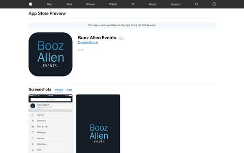 Booz Allen Events on the App Store