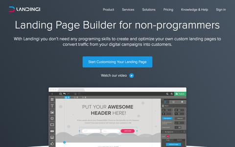Landing Page Builder with +100 ready to use templates | Landingi