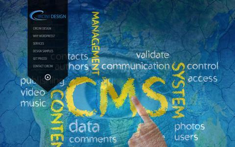 Screenshot of Home Page circini.net - Circini Design   Powerful, Affordable Wordpress Websites - captured Jan. 26, 2015