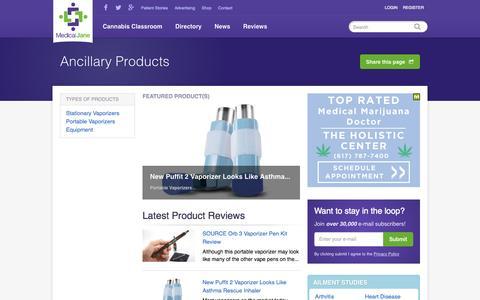 Screenshot of Products Page medicaljane.com - Vaporizer Reviews, Equipment Reviews, & Product Reviews - captured Oct. 1, 2015