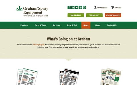Screenshot of Press Page grahamse.com - Graham Spray Equipment » News - captured Nov. 11, 2018