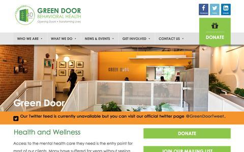 Screenshot of Services Page greendoor.org - Services Archive - Green Door - captured July 19, 2016