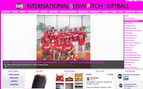 Screenshot of Home Page ispssoftball.com - Official Website of ISPS - International Slow Pitch Softball - captured Oct. 6, 2014