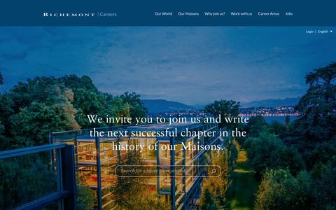 Screenshot of Jobs Page richemont.com - English | Richemont - captured April 28, 2016