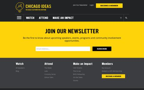Screenshot of Signup Page chicagoideas.com - Chicago Ideas Week - captured Nov. 5, 2016