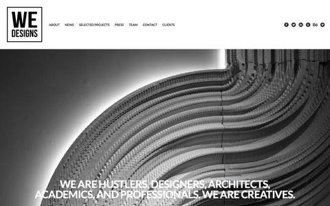 Screenshot of Home Page we-designs.com - WE-DESIGNS - captured Jan. 25, 2016