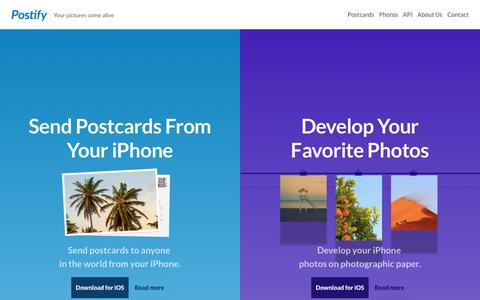 Screenshot of Blog postify.com - Postify — Your pictures come alive - captured July 3, 2015