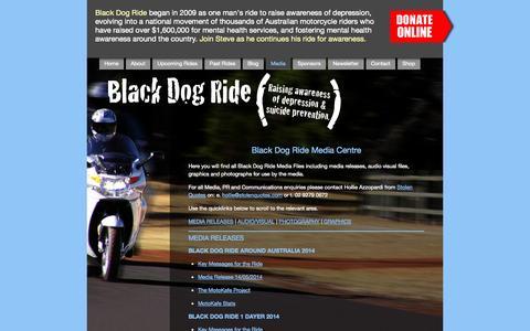 Screenshot of Press Page blackdogride.com.au - Black Dog Ride Media Centre - captured Sept. 30, 2014