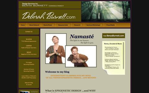 Screenshot of Blog deborahburnett.com - Deborah Burnett, ASID   Health & Wellness Design Authority   Deborah's Blog & Journal - captured Feb. 9, 2016
