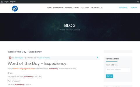 Screenshot of Blog smartlanguagesolutions.com - Blog - Smart Language Solutions - captured Oct. 6, 2017