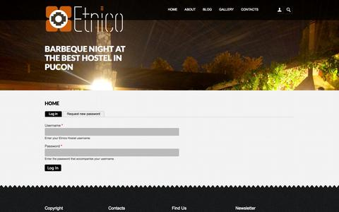 Screenshot of Login Page etnicohostel.com - Home | Etnico Hostel - captured Oct. 27, 2014