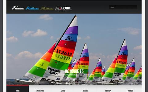 Screenshot of Home Page hobiecat.nl - Hobie Cat Holland | Catamarans, Kayaks, SUP-boards and much more… - captured Jan. 30, 2016