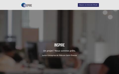 Screenshot of Home Page inspire-telecom.com - Inspire · Junior-Entreprise de Télécom Saint-Étienne   Inspire · Junior-Entreprise de Télécom Saint-Étienne - captured May 5, 2017