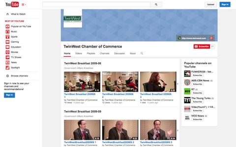 Screenshot of YouTube Page youtube.com - TwinWest Chamber of Commerce  - YouTube - captured Oct. 26, 2014