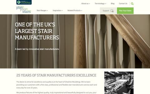 Screenshot of About Page planyourstairs.co.uk - Stair Manufacturers - Cheshire Mouldings - Plan Your Stairs - captured April 22, 2016