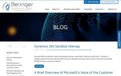 Screenshot of Blog beringer.net - Blog - Cherry Hill, Mount Laurel, Pennsauken | Beringer Technology Group - captured Oct. 10, 2017