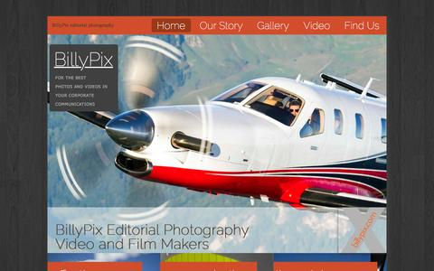 Screenshot of Home Page billypix.com - Billypix - Editorial Photography, Video And Film Making, Editorial Photographers - captured Feb. 7, 2016