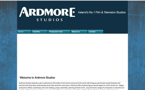 Screenshot of Locations Page ardmore.ie - ardmore-studios - captured Oct. 5, 2014