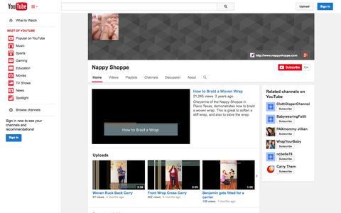 Screenshot of YouTube Page youtube.com - Nappy Shoppe  - YouTube - captured Oct. 29, 2014