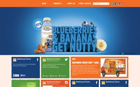 Screenshot of Home Page bolthouse.com - Bolthouse Farms - captured Oct. 24, 2015