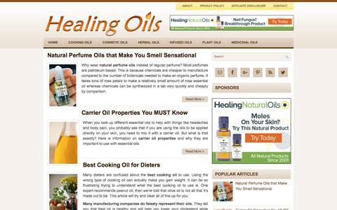 Screenshot of Home Page healing-oils.info - Healing Oils - captured Oct. 31, 2017