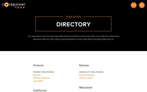 Yoga Studio Locations | CorePower Yoga