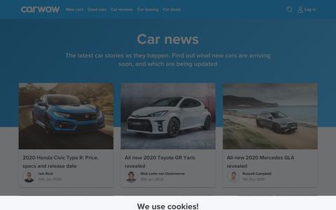 Screenshot of Press Page carwow.co.uk - Car news   carwow - captured Jan. 18, 2020