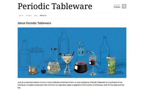 Screenshot of About Page ptware.com - Periodic Tableware - About Periodic Tableware - captured Oct. 2, 2014