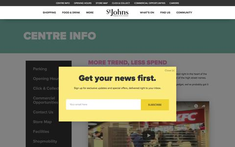 Screenshot of About Page stjohns-shopping.co.uk - Centre Info - St Johns Shopping Centre - captured Feb. 28, 2018