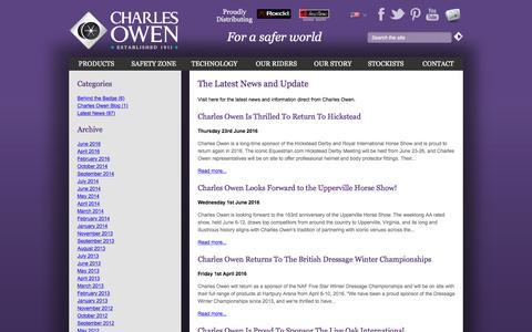Screenshot of Blog charlesowen.com - News and Blog | Charles Owen & Co (Bow) Ltd - captured July 12, 2016