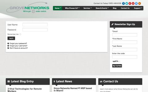 Login / Logout   IT Support - Miami   Grove Networks