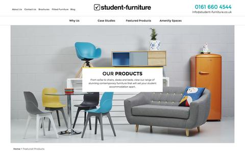 Screenshot of Products Page student-furniture.co.uk - Product Range | Student Furniture - captured Dec. 17, 2016