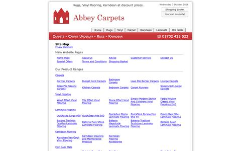 Screenshot of Site Map Page abbey-carpets.co.uk - Site Map : Abbey Carpets - captured Oct. 2, 2018
