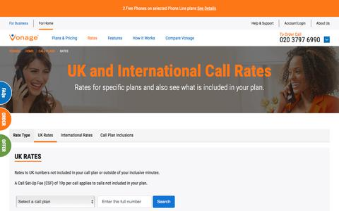 International Call Rates and Charges - Vonage