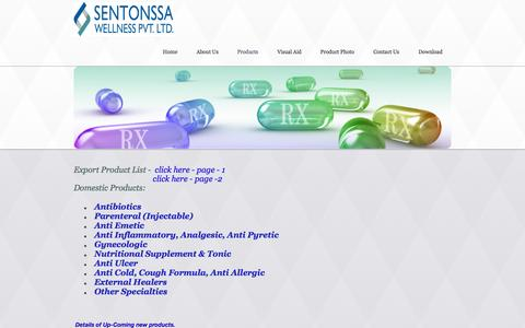 Screenshot of Products Page pcdpharmagujarat.in - pcd pharma products | antibiotics | antacid-anti ulcer | pcd herbal products | pcd injactable | pcd gynecology products | pcd nutritional products | anti cold & cough products | ointments | other specialty | pcd veterinary company | other special pro - captured Oct. 3, 2014
