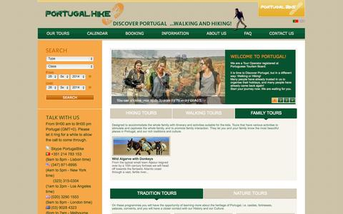 Screenshot of About Page portugalhike.com - Portugal Hike - Hiking in Portugal. Trekking in Portugal. Portugal hiking tours. Portugal walking tours. Hiking the algarve portugal - captured Sept. 30, 2014