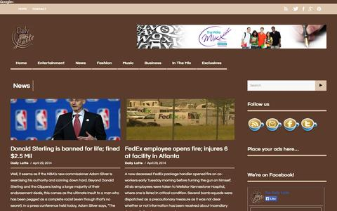 Screenshot of Press Page thedailylatte.com - thedailylatte | News Archives - thedailylatte - captured Oct. 7, 2014