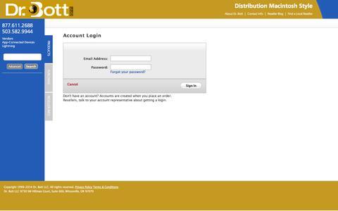 Screenshot of Login Page drbott.net - Dr. Bott LLC | Login - captured Sept. 23, 2014