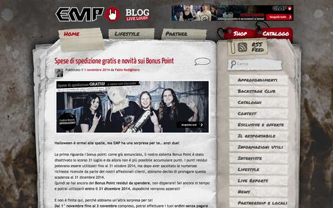 Screenshot of Blog emp-online.it - EMP Blog - Live loud!EMP Blog | Live loud! - captured Nov. 1, 2014