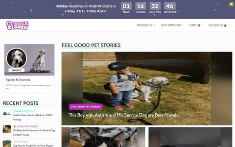 Screenshot of Blog cuddleclones.com - Blog - News & Articles - Custom Pet Products | Cuddle Clones - captured Nov. 14, 2019